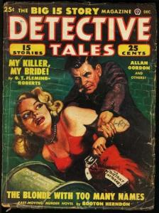 DETECTIVE TALES 1948 DEC-GGA COVER-GREAT ISSUE G/VG