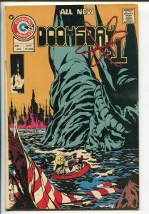 DOOMSDAY +1 #1 1975-CHARLTON-1ST ISSUE-AMERICAN FLAG COVER-25¢ COVER PRICE-vf+