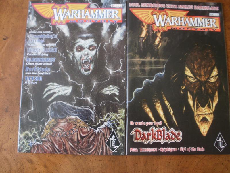 Warhammer Monthly #3 #19 (Games Workshop) 1998 1999 Darkblade Titan Bloodquest