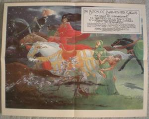 BOOKS of BALLADS & SAGAS Promo poster, Charles Vess, 1996, Unused