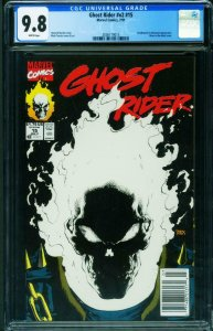 GHOST RIDER #15 CGC 9.8 1991-Glow in the Dark-Newsstand 2036119015