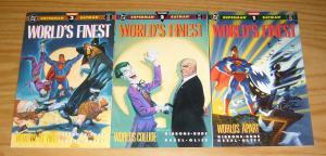 World's Finest #1-3 VF/NM complete set DAVE GIBBONS batman STEVE RUDE superman 2