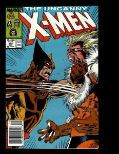 Uncanny X-Men # 222 NM Marvel Comic Book Wolverine Sabretooth Storm Rogue GB4