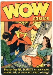 Wow Comics #1 1940-MR. SCARLETT--SIMON & KIRBY-Gotham City-CC BECK G
