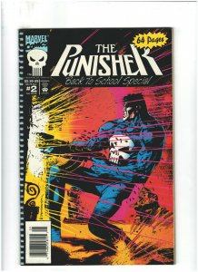 Punisher Back to School Special #2 VF 8.0 Newsstand Marvel Comics 1993