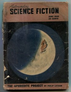 Astounding Science-Fiction Pulp June 1949-L Ron Hubbard F/G