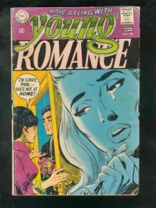 YOUNG ROMANCE #156 1968-DC ROMANCE- FR/G