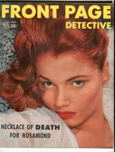 FRONT PAGE DETECTIVE-MARCH/1953-SINNERS-SAINTS-FAST-LOOSE-DEADLY G
