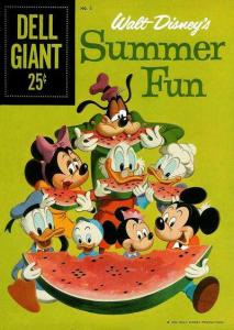 Dell Giant Comics: Walt Disney's Summer Fun #2, Good- (Stock photo)