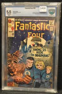 Fantastic Four #45 CBCS 5.5 - KEY 1st Inhumans