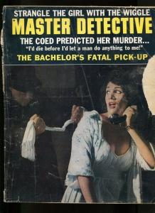 MASTER DETECTIVE-02/1964-BOMBS AWAY- BACHELOR'S FATAL DATE-1/2 INCH CLUE FR/G