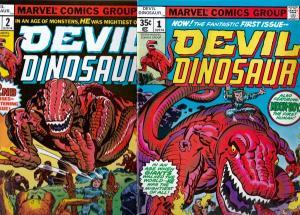 Devil Dinosaur Set #1to2 (Apr-78) NM/NM- High-Grade Moon Boy