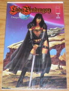 Lady Pendragon v3 #1 VF/NM dynamic forces joe jusko gold variant w/COA (of 2500)