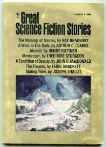 Great Science Fiction Stories Pulp #3 1966- Bradbury- Arthur C Clarke G/VG