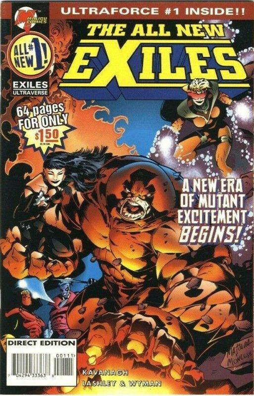 The All New EXILES #1 (Vol. 2, No. 1) Cover B - Malibu Comics - October 1995