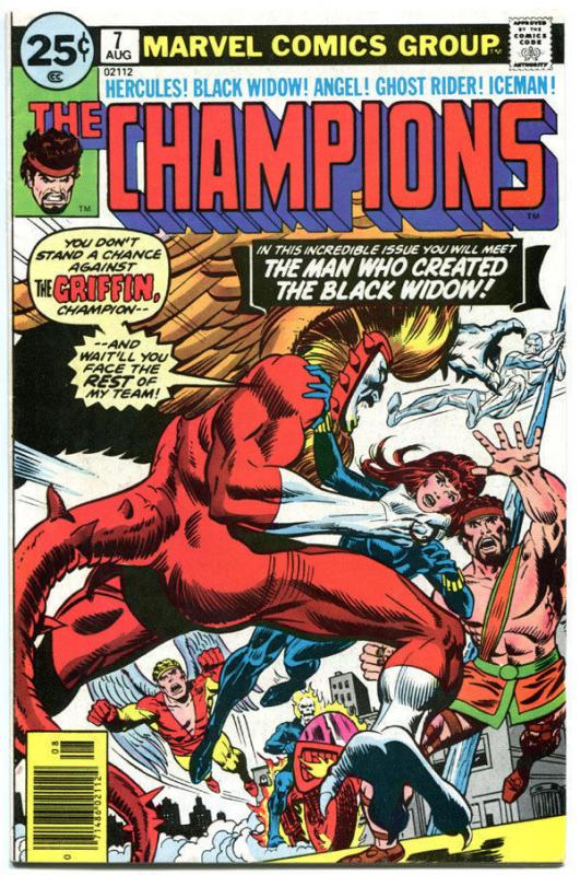 CHAMPIONS #7, FN+, Hercules, Black Widow, Ghost Rider, 1976, more in store