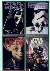 STAR WARS THE MOVIES: PHOTO COVER TRADE SET+ 1