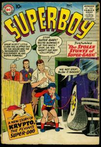 Superboy Comics #71 1959- Krypto story- tire change FAIR