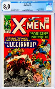 X-Men #12 CGC Graded 8.0 Origin of Professor X. Origin and 1st appearance of ...