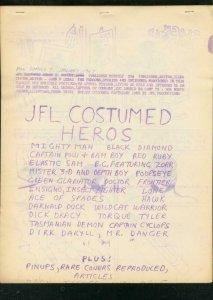 POW FANZINE #7 1967-ORIGINAL COMIC BOOK SUPER HEROES- FN