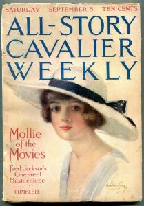 All-Story Cavalier Weekly 9/5/1914-Hamilton King Girl- Mollie of the Movies FN-