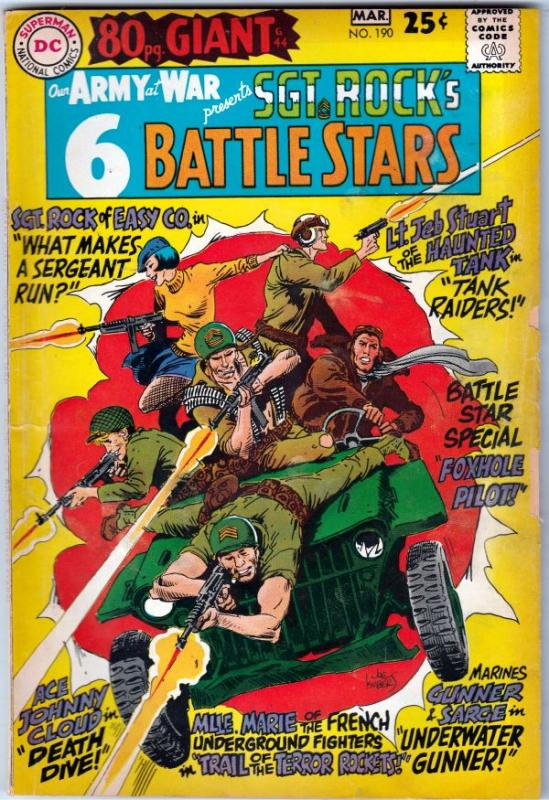 Our Army at War #190 (Mar-68) VG/FN Mid-Grade Easy Company, Sgt. Rock
