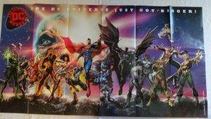 DC UNIVERSE JUST GOT BIGGER Promo poster, 32 x 60, 2017, DC,  Unused  024