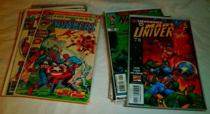 Invaders #6,8,9,14,20,21,33,37,40+ Captain America Torch Namor, comics lot of 55