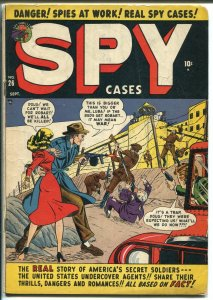 Spy Cases #26 1950-Atlas-1st issue-Iron Curtain-Commies-Tommy gun-VG