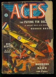 Aces Pulp Winter 1939- WWI aviation stories- George Bruce- FAIR