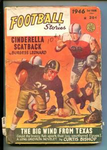FOOTBALL STORIES-FALL 1946-PULP-THRILLS-GEORGE GROSS COVER-good