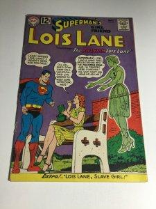 Superman's Girlfriend Lois Lane 33 Vg Very Good 4.0 DC Comics Cover Detached