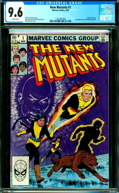 New Mutants #1 CGC Graded 9.6 Origin of Karma, 2nd New Mutants App