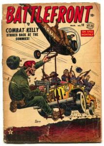 Battlefront #10 1953- COMBAT KELLY- Atlas War comic G