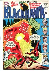 BLACKHAWK #215-DC-MAGNIFICENT 7-vivid cover! VF