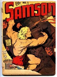 Samson #1 Fox 1940 Rare Golden-Age First Issue-Powell art-Comic Book