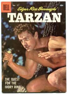 Tarzan Comics #93 1957- Gordon Scott photo cover- Dell Comics VF