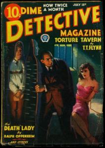 Dime Detective Pulp July 15 1933- Iron Maiden torture cover- TT Flynn VG