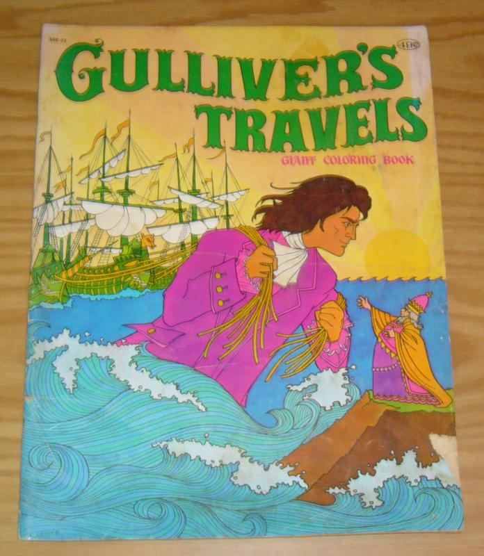 Gulliver\'s Travels Giant Coloring Book B480-22 VG a. leiner cover ...