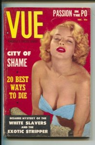 Vue 12/1954-Spicy photo cover-white slaves-female wrestlers-Cheesecake pix-sw...