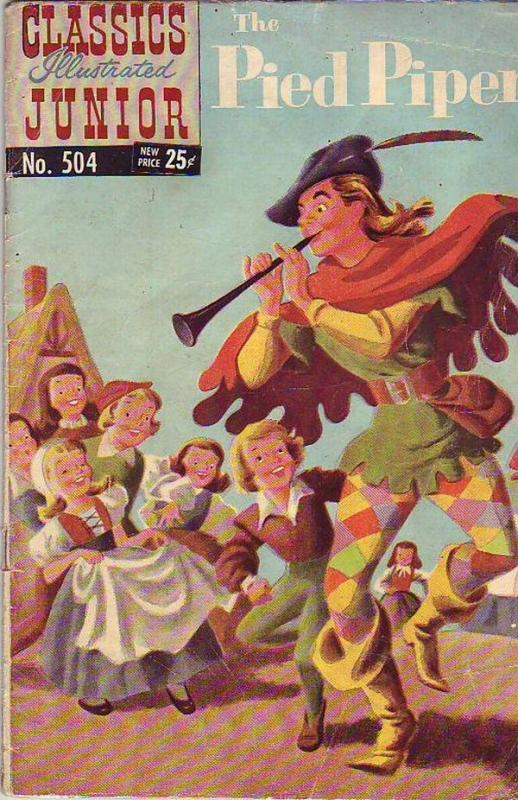 Classics Illustrated Junior #504 (Nov-66) GD Affordable-Grade The Pied Piper