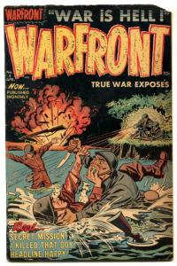 Warfront Comics #5 1953- Korean War COMMIES Harvey G+