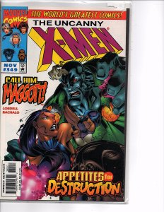 Marvel Comics Uncanny X-Men #349 Beast; Gambit; Rogue; Psylocke; Archangel