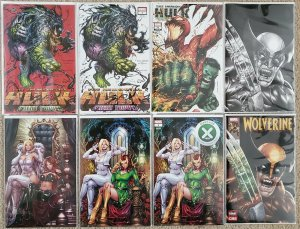 Wolverine #1 B&W, X-Men Giant #1 & Immortal Hulk #31 and Great Power #1 - C2E2