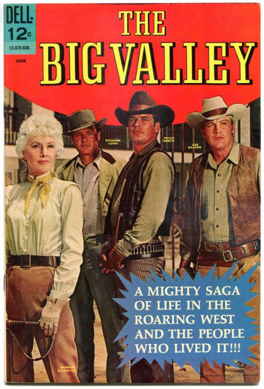 The BIG VALLEY #1, VF, Dell, 1966, Lee Majors, Barbara Stanwyck, Peter Breck