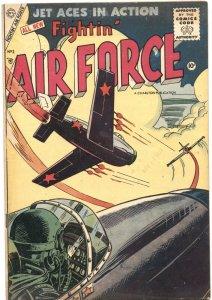 FIGHTIN' AIR FORCE #3-1956-AIR WAR-JET PLANES-COMMIE BATTLES-CHARLTON