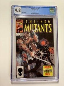 New Mutants 29 Cgc 9.8 White Pages Marvel X-men Copper Age 013