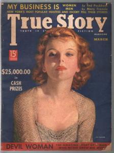 True Story 3/1938-Ida Lupino-Devil Woman-scandal-exploitation-comic art-pulp thr