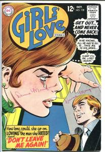 GIRLS' LOVE STORIES #138-DC ROMANCE-GET OUT!-WILD ISSUE VG