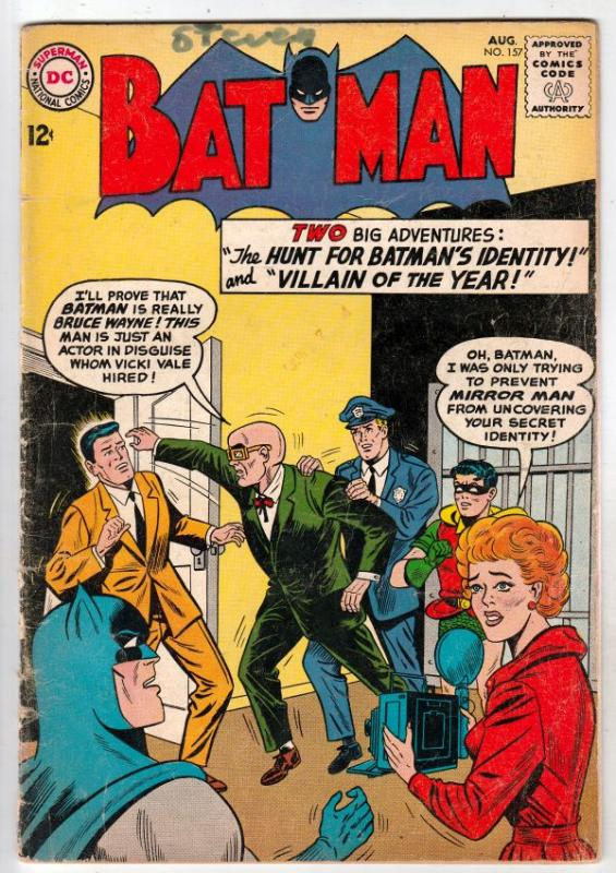 Batman #157 (Aug-63) VG Affordable-Grade Batman